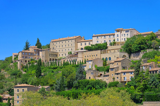 The village of Lauris, Luberon