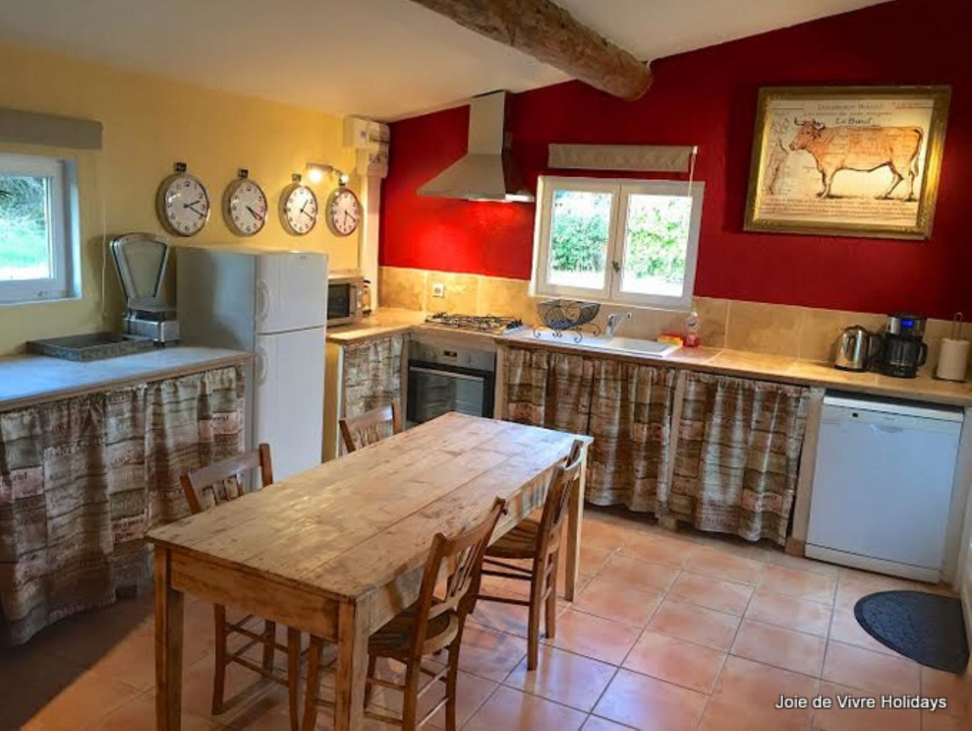 Well equipped kitchen of Gite St Sophie